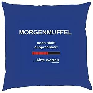 Decoración Cojín con relleno, sofá cojín de sofá en azul marino, Morgenmuffel