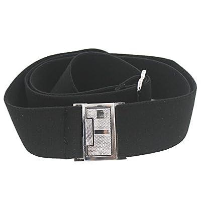 YYST Women's Invisible Hidden Belt Women Elastic Belt Flat Buckle Belt 1-1/4 Inch Wide