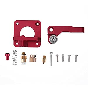 SODIAL 3D Printer Parts MK8 Extruder Aluminum Alloy Block Extruder Set 1.75mm Filament for Creality 3D CR-7 CR-8 CR-10 by SODIAL