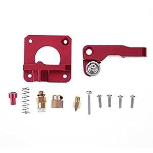 SODIAL 3D Printer Parts MK8 Extruder Aluminum Alloy Block Extruder Set 1.75mm Filament for Creality 3D CR-7 CR-8 CR-10