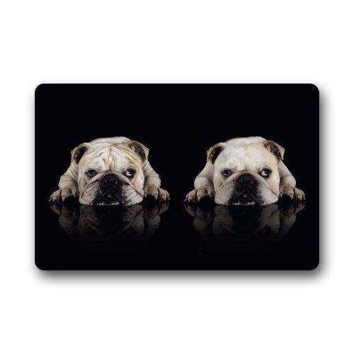 Fashion Decorative Door Mat Rug Funny Dog Bulldog Indoor/Outdoor/Floor Doormat 23.6