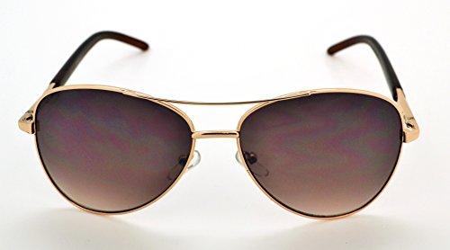 haute gratuit homme classique microfibre pour Brown de Brown femme étui Frame Aviator qualité léger W soleil Lunettes Vox pour Lens tendance et TX4wyqE55x