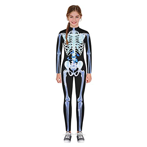 Halloween Teen Kids Boys Girls Funny Skull Skeleton Costume Romper Halloween Baby Bone Costume Romper Cartoon Skull Outfits (Superman Baby One Piece)