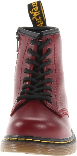 Child Unisex Cherry B Up Red Dr Martens Lace Brooklee Boots 6wOqZxfRx
