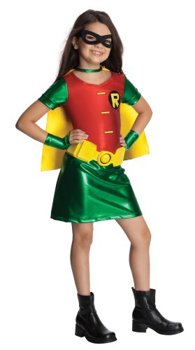 [Teen Titans Child's Robin Dress Costume - Small] (Teen Titan Robin Costumes)