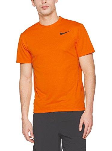 da Cool uomo corte Orange Naranja Nike Dri SS a Maglietta maniche Fit Black Vivid xfEw8qF