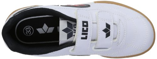 Lico Bernie V - Zapatillas deportivas para interior de material sintético infantil blanco - Weiß (weiss/marine)