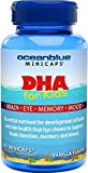 Ocean Blue DHA for Kids - 60 Minicaps - Mercury Free, Filler Free - Vanilla Flavor - Supports Brain Function - Help Eyesight - Sharpens Memory - Boosts Up Mood
