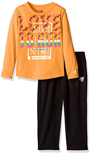 New Balance Girls' Toddler Long Sleeve Top and Tight Set, Ta
