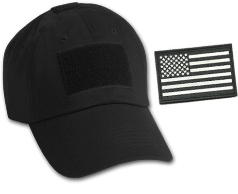 d096db2deab Bundle (Black) - 2 Items - Operator Cap   Matching PVC Tactical USA Patch