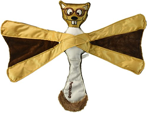 Doggles TYPESQ16 Pentapulls Flying Squirrel Dog Toy, 11