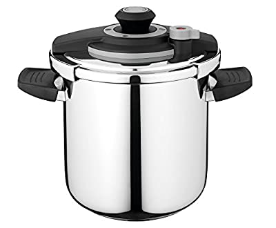 Berghoff Vita Stainless Steel Pressure Cooker with Lid Lock, 9.5qt, Suitable for All Stovetops