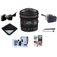 Canon EF 8-15mm f/4.0L USM Fisheye Lens BUNDLE w/USA Warranty + More