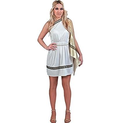 Fyasa 700719 Lady disfraz romano, Blanco, Grande