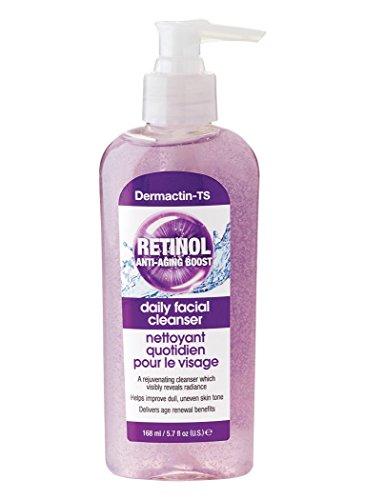 Dermactin-TS Retinol Daily Facial Cleanser (Retinol Vitamin Enriched Anti Aging Cream Cleanser)