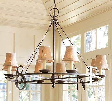 Pottery Barn Weathervane Chandelier Ceiling Light