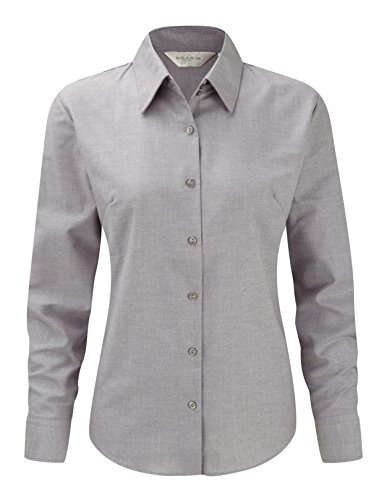 Long Oxford Sleeve Easy Gris Womens Argent Shirt Collection Care Russell qaRSnPxUwx