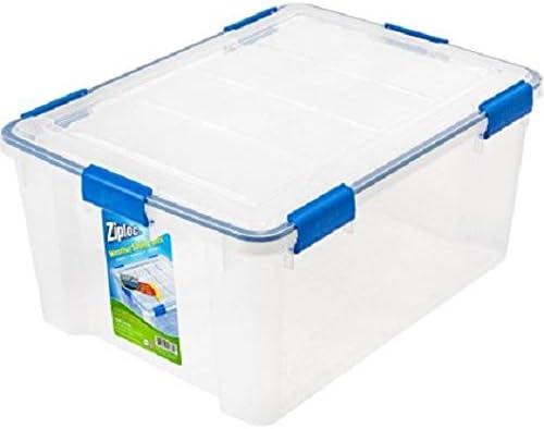 IRIS USA, Inc. Ziploc WeatherShield - Caja de almacenaje (60 Quart, 4 Unidades), Transparente: Amazon.es: Deportes y aire libre