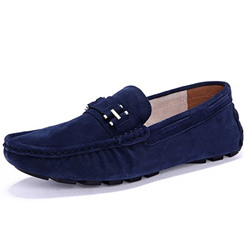 MSKAY MEN SHOES Mocassins pour homme Bleu lDowFh0