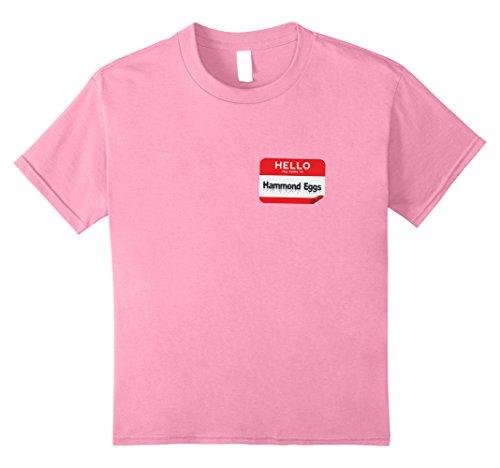 Kids Hello My Name Is Hammond Eggs Ham And Funny Halloween TShirt 8 Pink