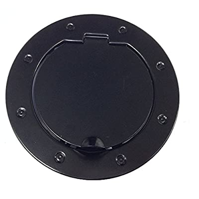 TOPNEW® Black Powder Coated Steel Gas Fuel Tank Gas Cap Cover & Accessories for 07-16 Jeep Wrangler JK