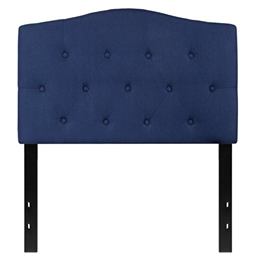 Flash Furniture Cambridge Tufted Upholstered Twin Size Headboard in Navy Fabric ()