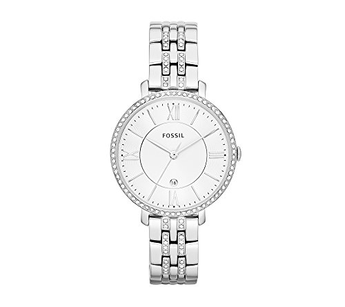 Fossil-Womens-36mm-Silvertone-Jacqueline-Bracelet-Watch-with-Glitz-Bezel
