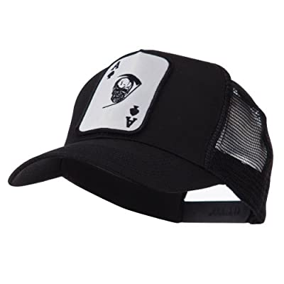 e4Hats.com Skull and Choppers Embroidered Military Patched Mesh Cap