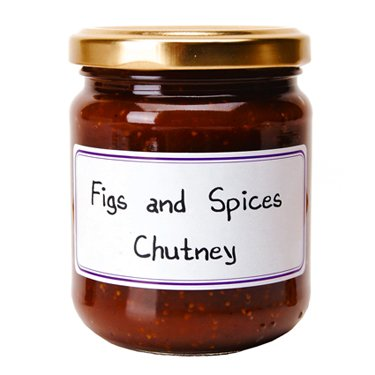 Figs and Spices French Imported Chutney 7.76 oz jar by l'Epicurien, France, (Fig Chutney)
