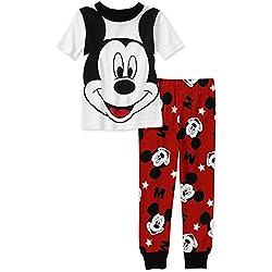 Mickey Mouse Baby Toddler White Cotton Pajamas (4T)