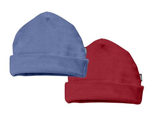 nie Cap Hat Skull Cap Newborn Infant - Denim Blue/Red - Newborn ()