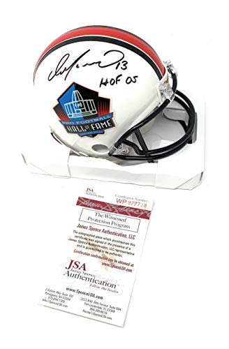Dan Marino Miami Dolplhins Signed Autograph Hall Of Fame Mini Helmet HOF Inscribed JSA Witnessed Certified ()