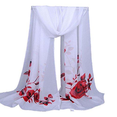 Clearance Sale!Fashion Women Long Soft Wrap scarf Ladies Flower Shawl Chiffon Scarf Scarves ()