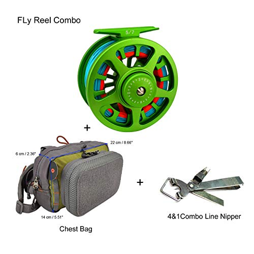 Aventik Z Fly Fishing Reel CNC Aluminum Trout 3 5, 5 7, 7 9wt Large Arbor Freshwater Fly Reel
