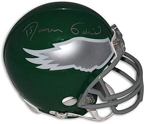 Roman Gabriel Philadelphia Eagles Autographed Riddell Replica Mini Helmet COA Included Signature