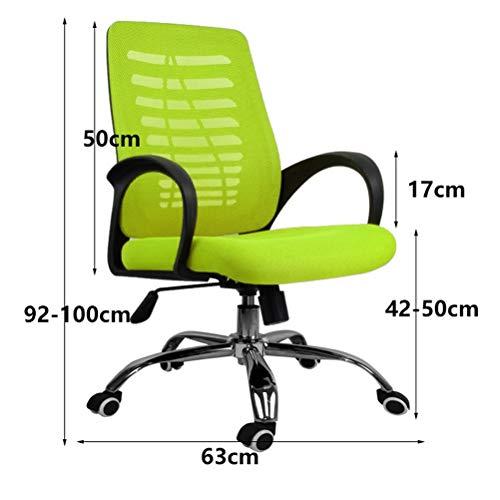Skopall LUYIASI– kontorsmaterial nät höjd justerbar stol med torsionskontroll (färg: Grön)