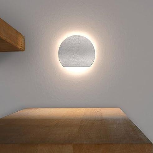 LED Treppenbeleuchtung Rund Aus Aluminium Und Plexiglas Für  Schalterdoseneinbau 68mm   Warmweiß 3000K [Stufenbeleuchtung