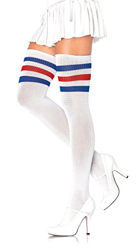 (Leg Avenue Womens Three Striped Athletic Ribbed Thigh)