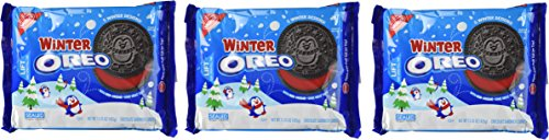 Winter Oreo Cookies with Red Creme (15.35 oz.) (Pack of 3) (American Oreos Cookies)