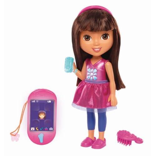 Fisher Price–Dora et ses amis jouet–Talking Dora poupée Interactive avec smartphone–50phrases