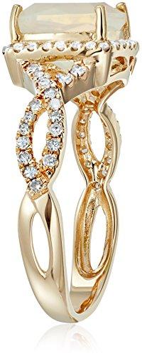 14k Diamond Cushion Infinity Shank Engagement Ring (1/4cttw, H I Color, I1 I2 Clarity), Size 7