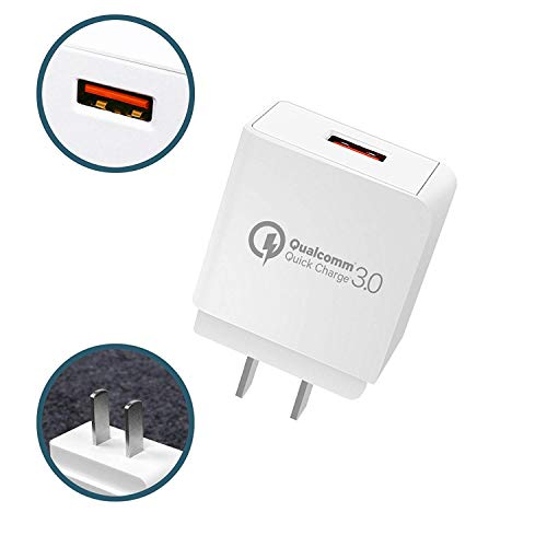 Quick Charge 3.0 Cargador de pared USB Quick Charger con Qualcomm 3.0 certificado para Samsung Galaxy S9, S8, S7 Edge, S6,...