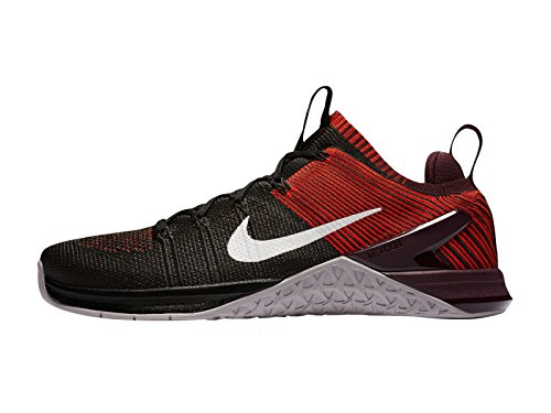 Nike Mens Metcon Dsx Flyknit 2 Nylon Löparskor Svart / Stora Grå / Chili Röd