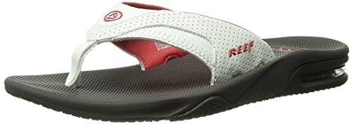 Reef Fanning Womens Sandals | Bottle Opener Flip Flops For Women , Brown/White/Coral , 5 M US