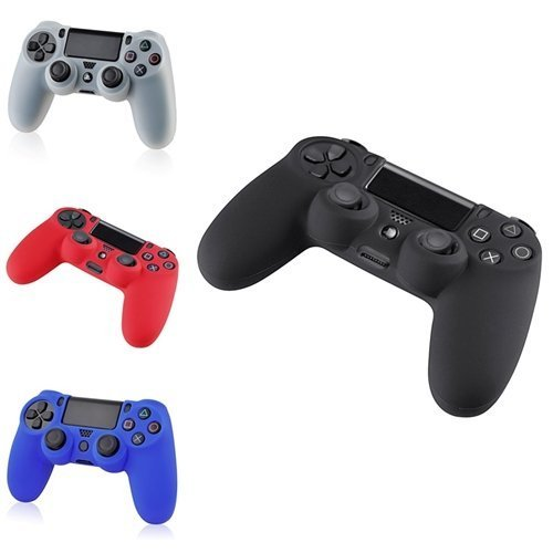 Silicone Protective Controller for Sony PS4 (Red/Black) - 1