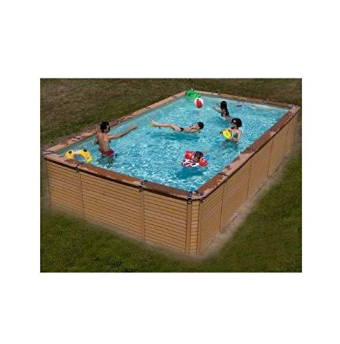 Zodiac Azteck maxiwood rectangular de madera piscina 2,44 m x 4,95 ...