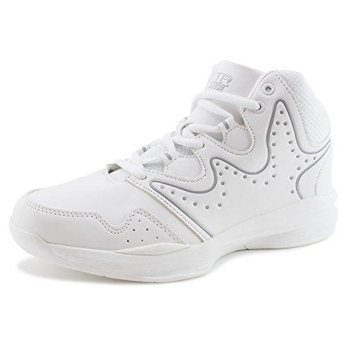 Air Balance Mens Lace Up Lauftraining Weiße Schuhe Turnschuhe (Erwachsene) Weiß grau