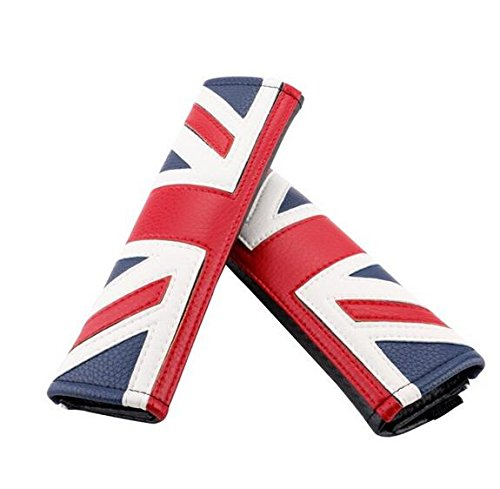 Classic Union Jack Uk Flag Car Seat Belt Shoulders Pad