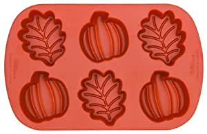 Wilton Silicone Mini Leaf and Pumpkin Mold- Discontinued By Manufacturer