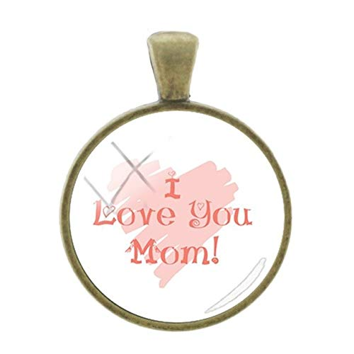 Pendants -1Pc Cartoon Mom Baby Picture Pendants Classic Cute Simple Bronze Plated Charms 25Mm Glass Cabochon Dome Fashion Jewelry A962 - A980